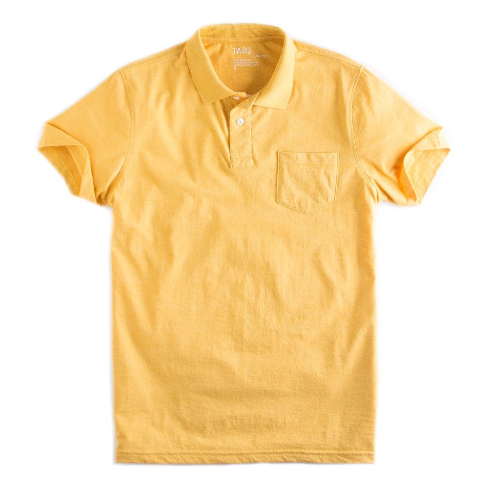 Camisa-Polo-Basica-Com-Bolso-Amarelo-Mescla