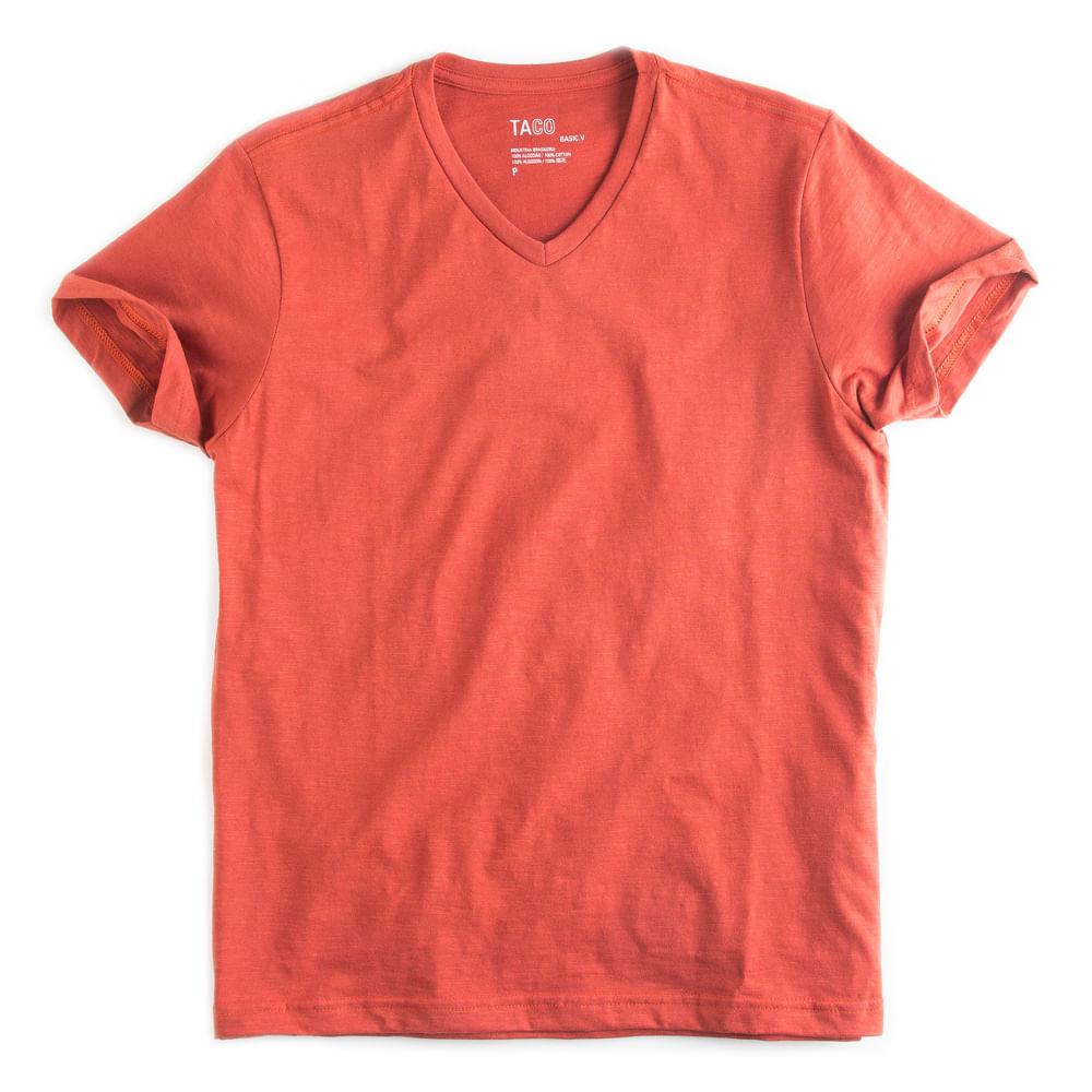 T-shirt-Gola-V-Flame-Basica-Laranja-Escuro
