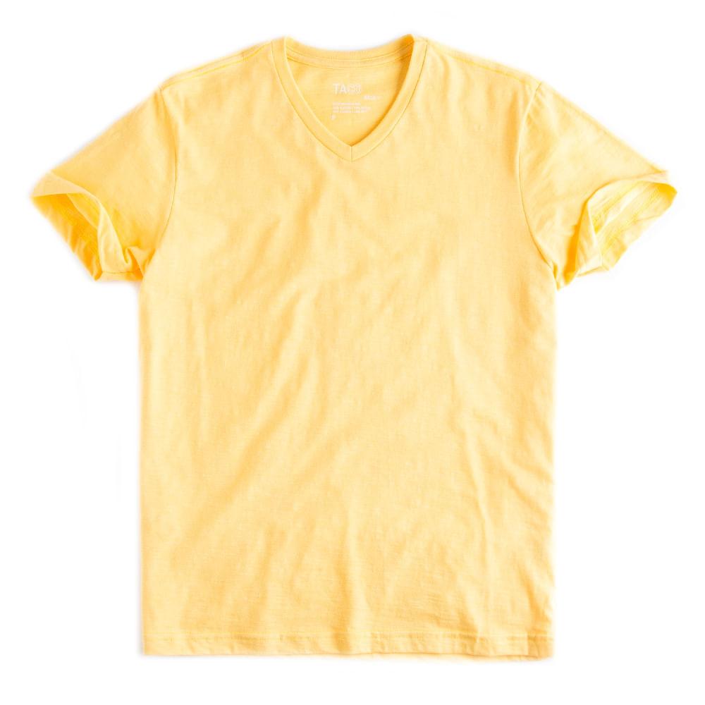 T-shirt-Gola-V-Flame-Basica-Amarelo-Claro