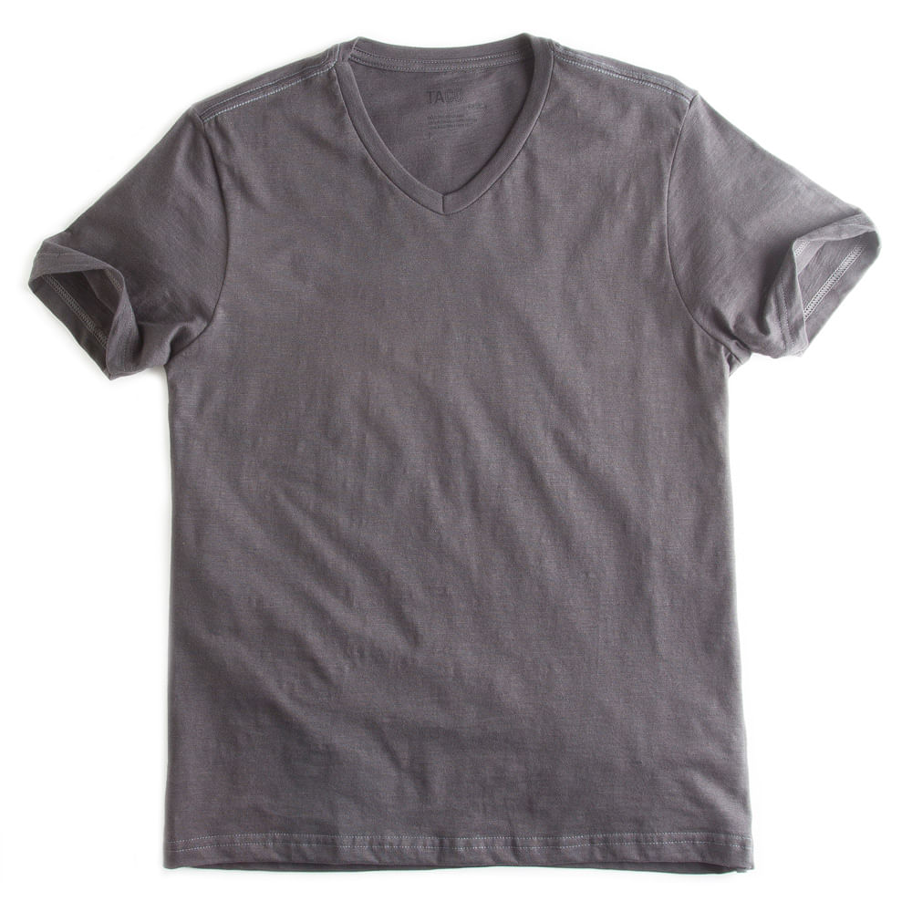 -T-shirt-Gola-V-Flame-Basica-Chumbo