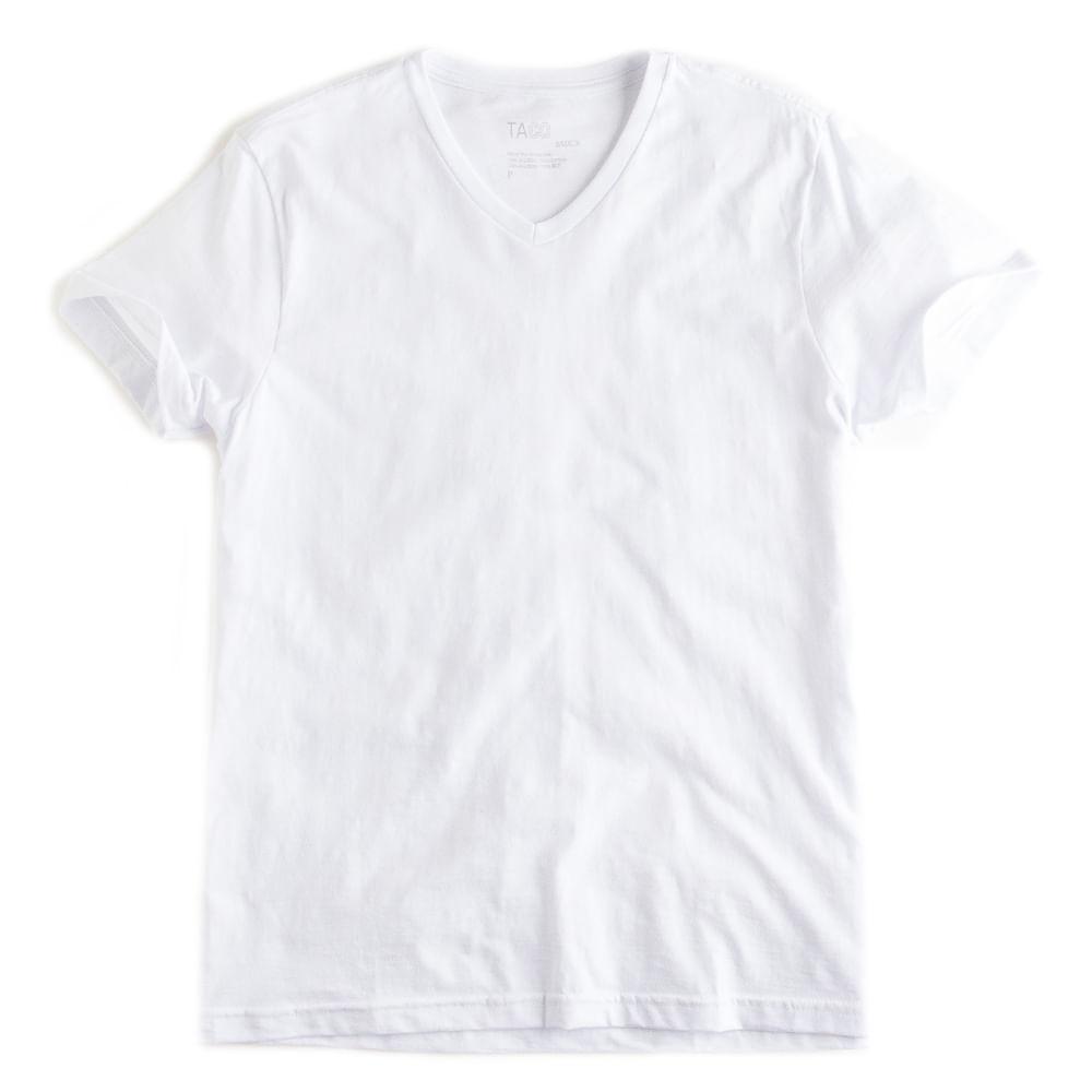 -T-shirt-Gola-V-Flame-Basica-Branco