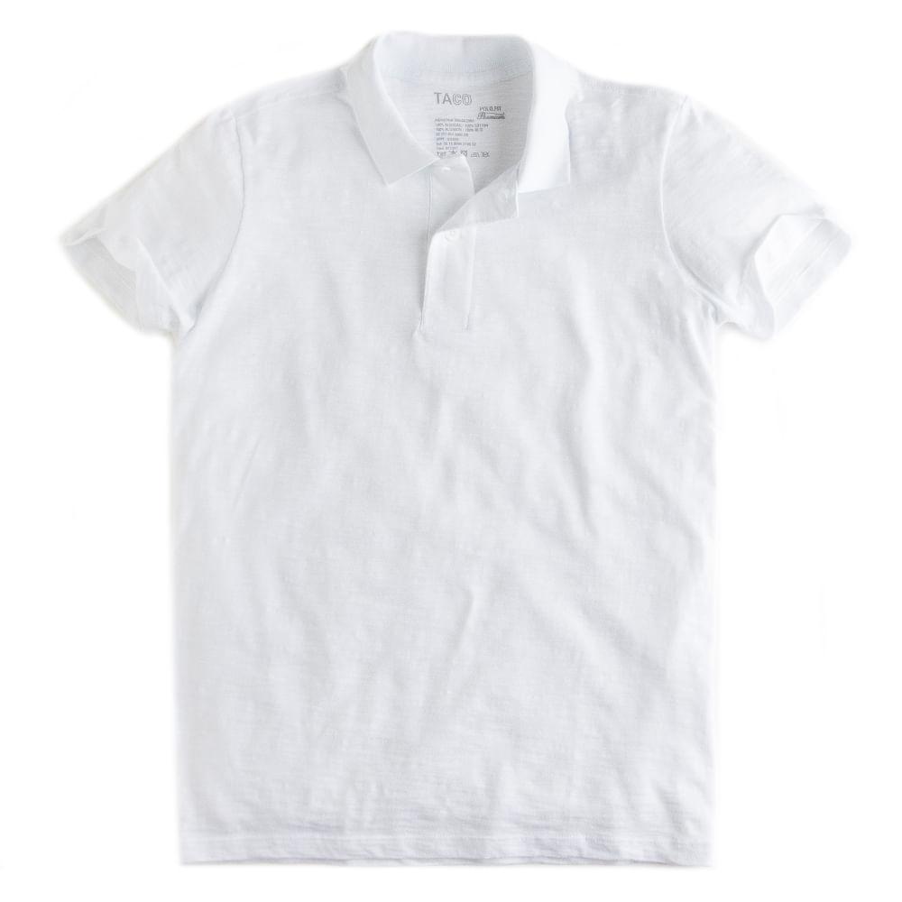 Camisa-Polo-Fit-Premium-Branco