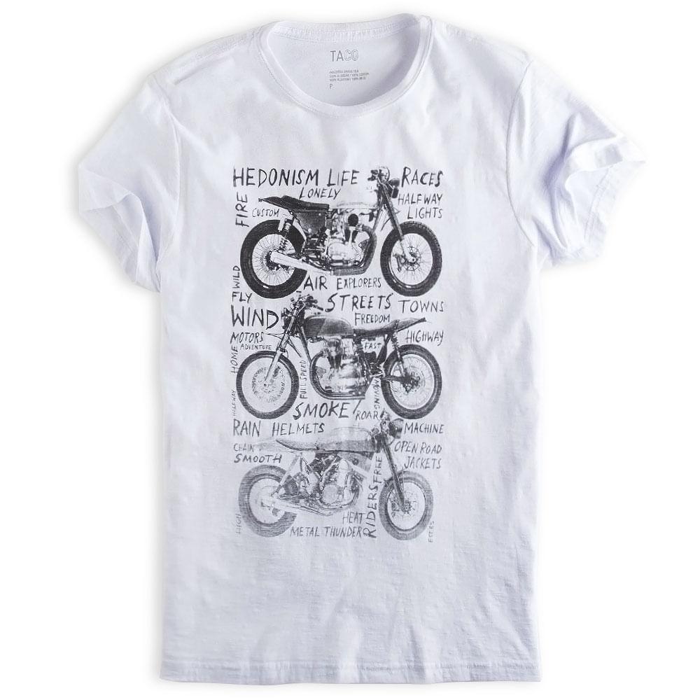 T-shirt-Estampada-Flame-Branca
