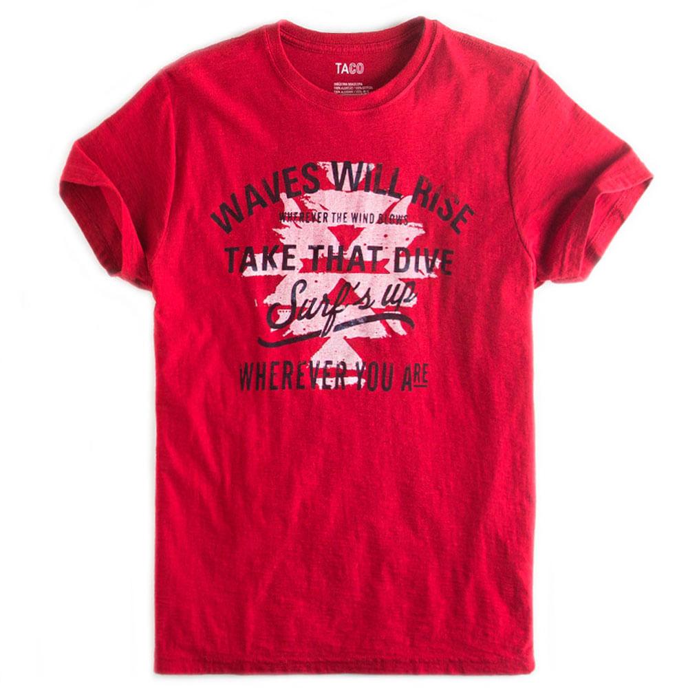 T-shirt-Estampada-Flame-Vermelho-Escuro