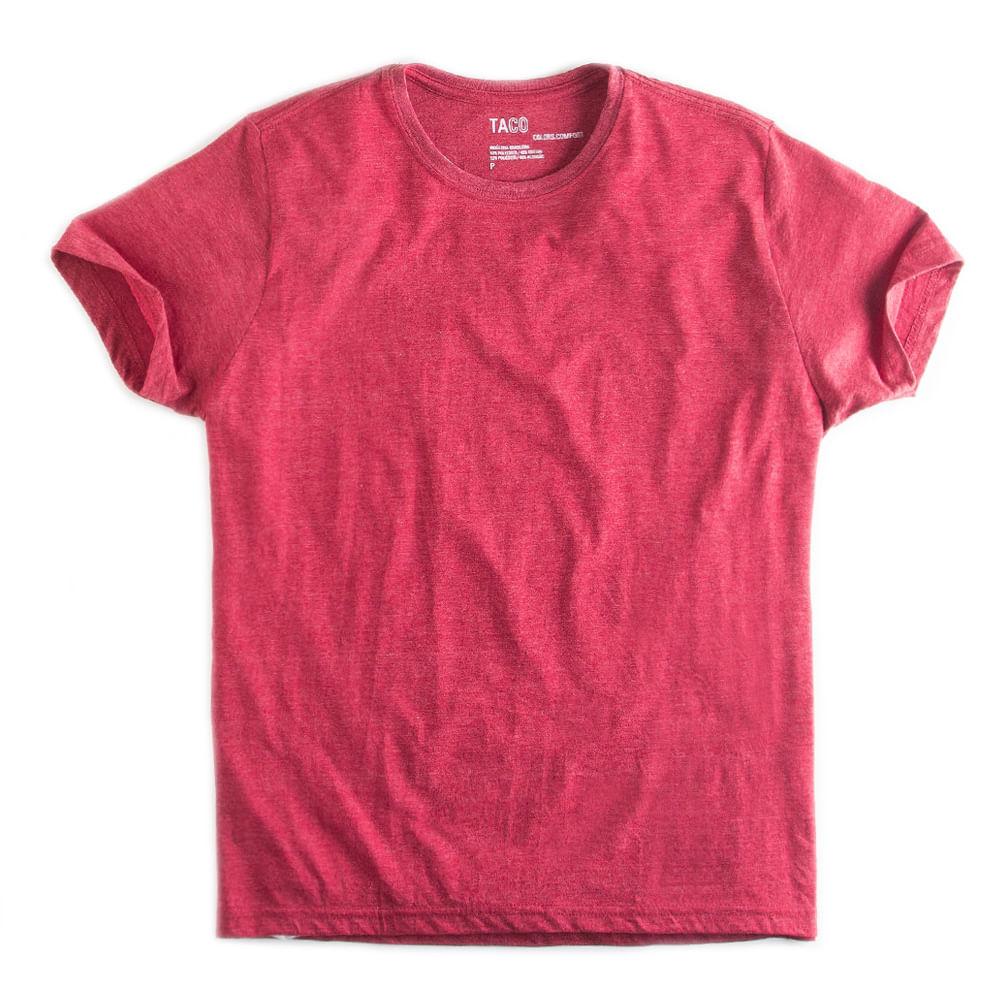 T-shirt-Basica-Comfort-Vermelho-Mescla