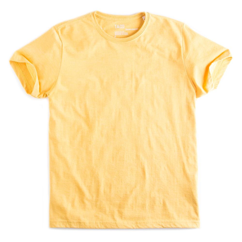 T-shirt-Basica-Comfort-Amarelo-Mescla