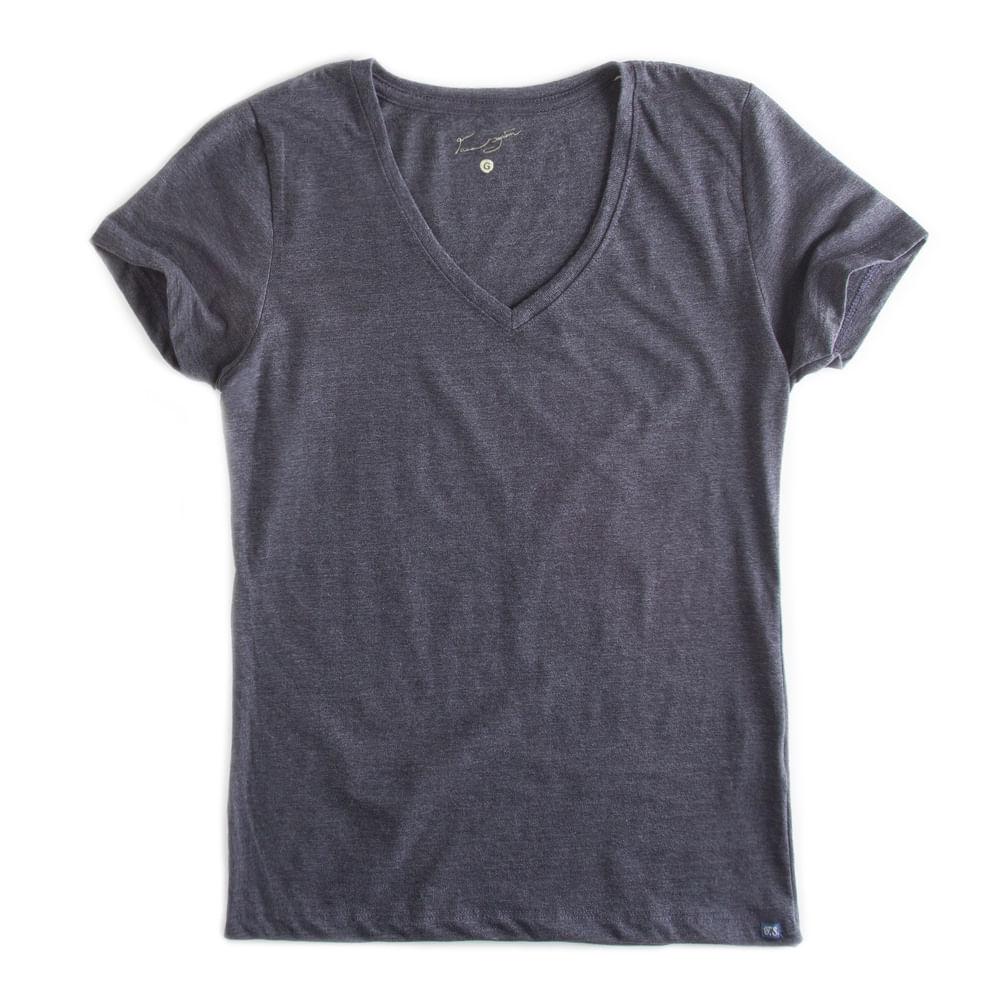 T-shirt-Gola-V-Basica-Grafite-Mescla-Feminina