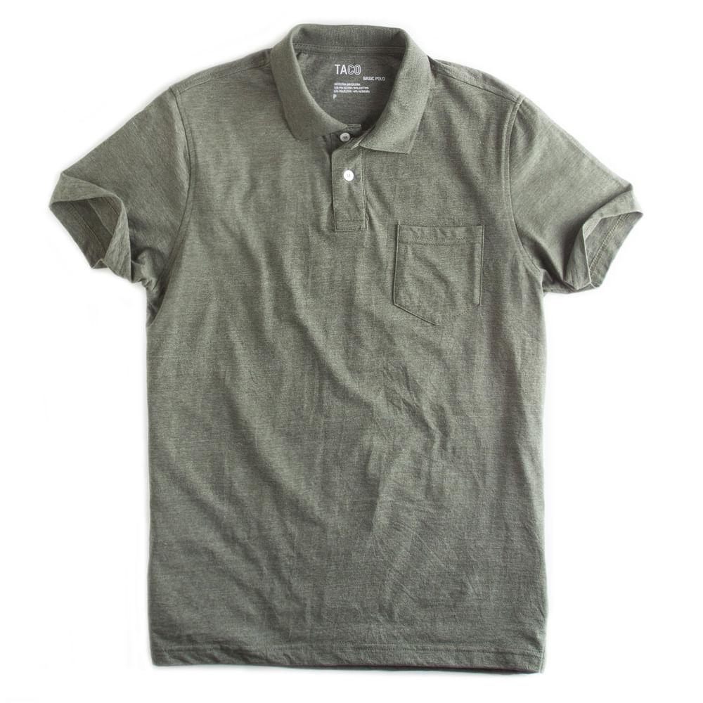 Camisa-Polo-Basica-Com-Bolso-Verde-Musgo-Mescla