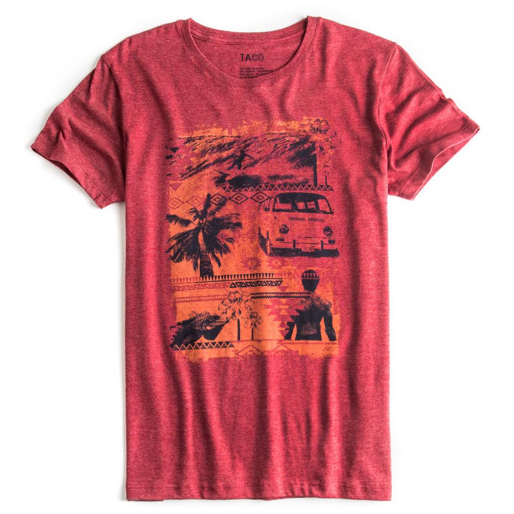 T-shirt-Estampada-Vermelha