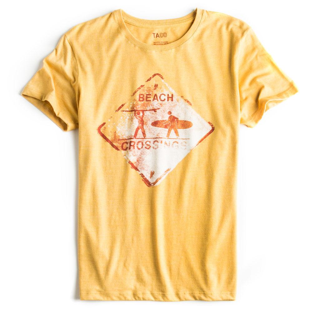 T-shirt-Estampada-Amarela