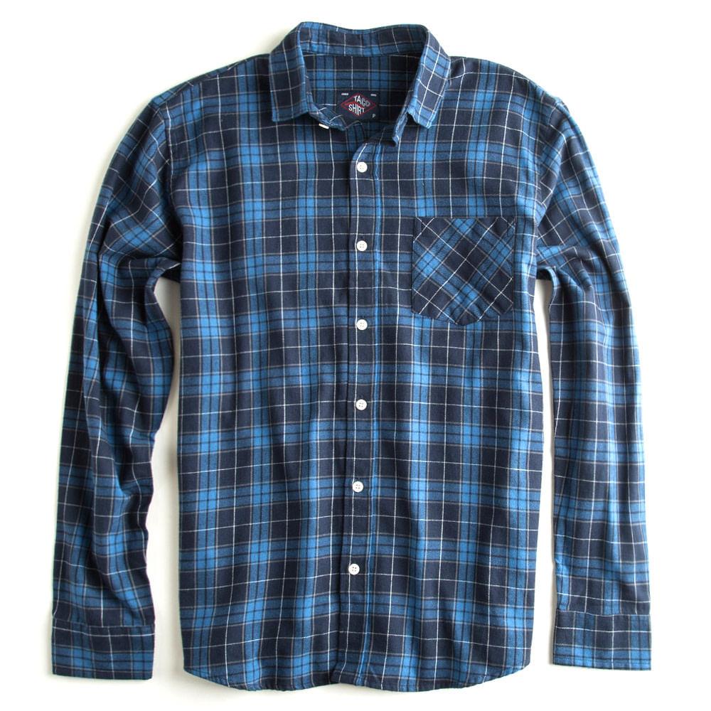 Camisa-Flanelada-Xadrez-Manga-Longa-Azul-Marinho