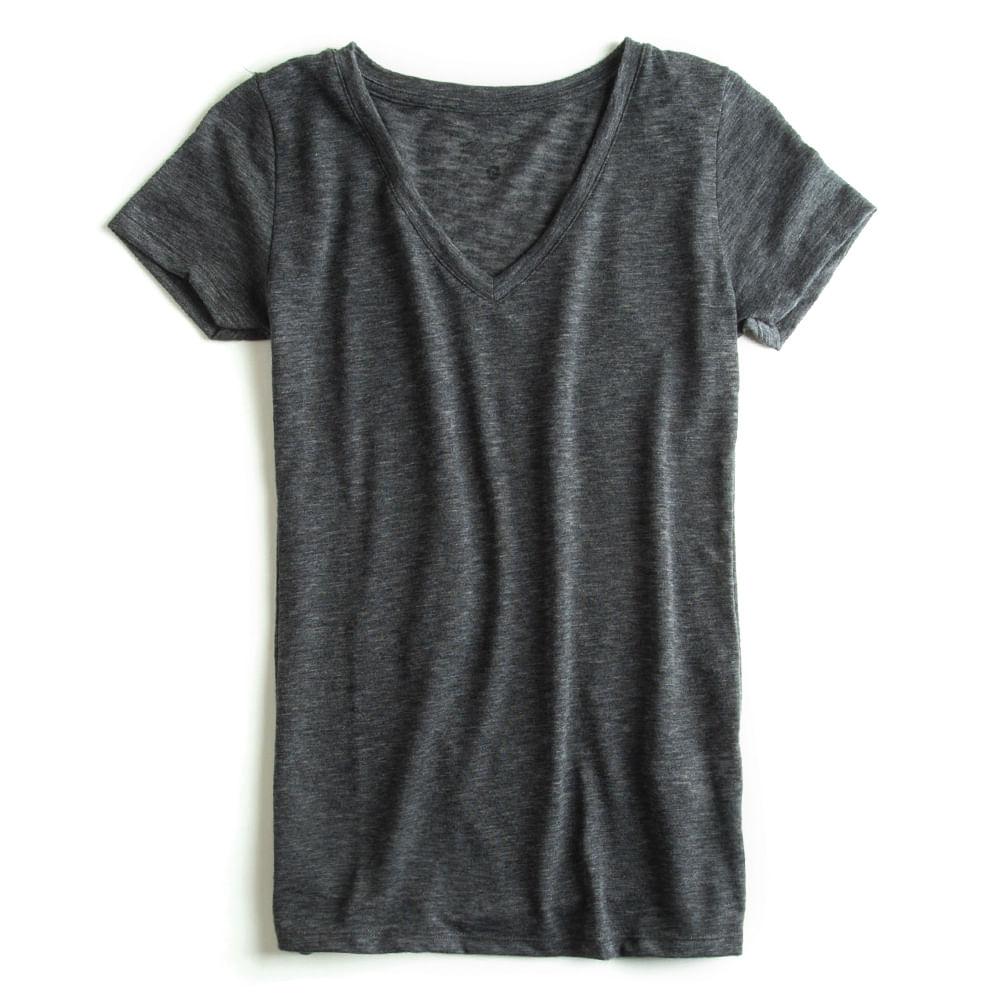 T-shirt-Gola-V-Flame-Peletizada-Chumbo-Feminina