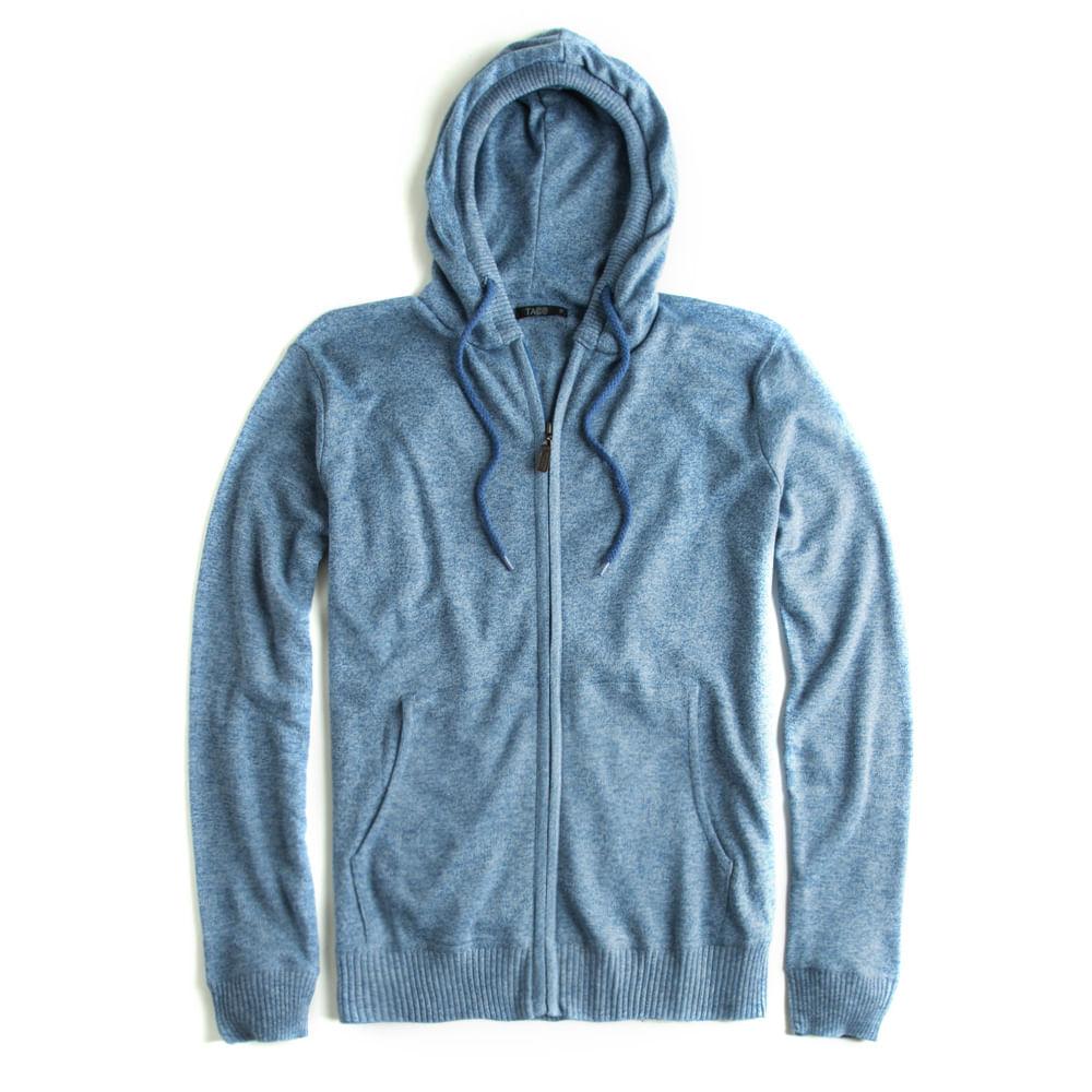 -Casaco-Tricot-Com-Capuz-Azul-Jeans