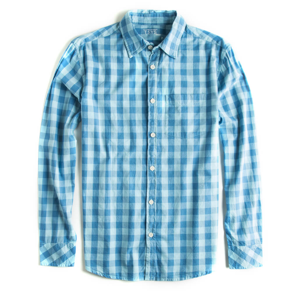 Camisa-Xadrez-Manga-Longa-Azul-Claro