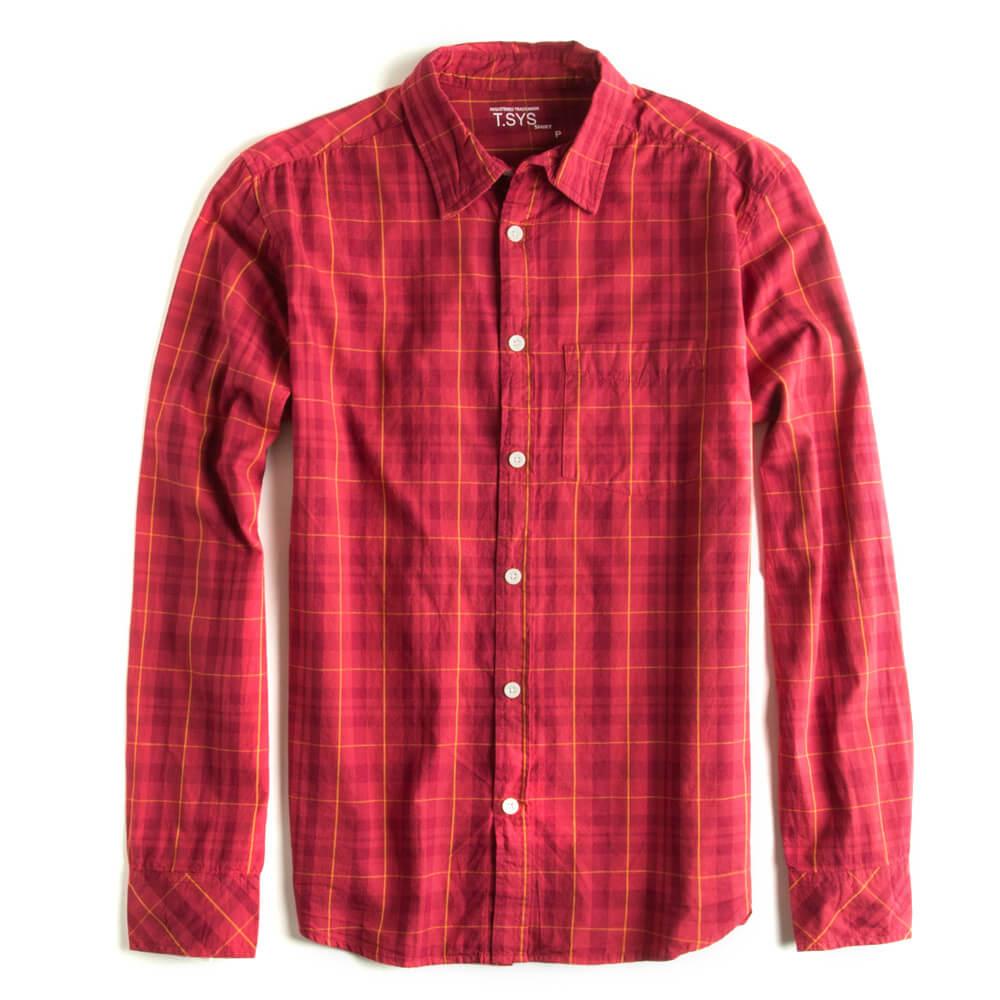 Camisa-Xadrez-Manga-Longa-Vermelha