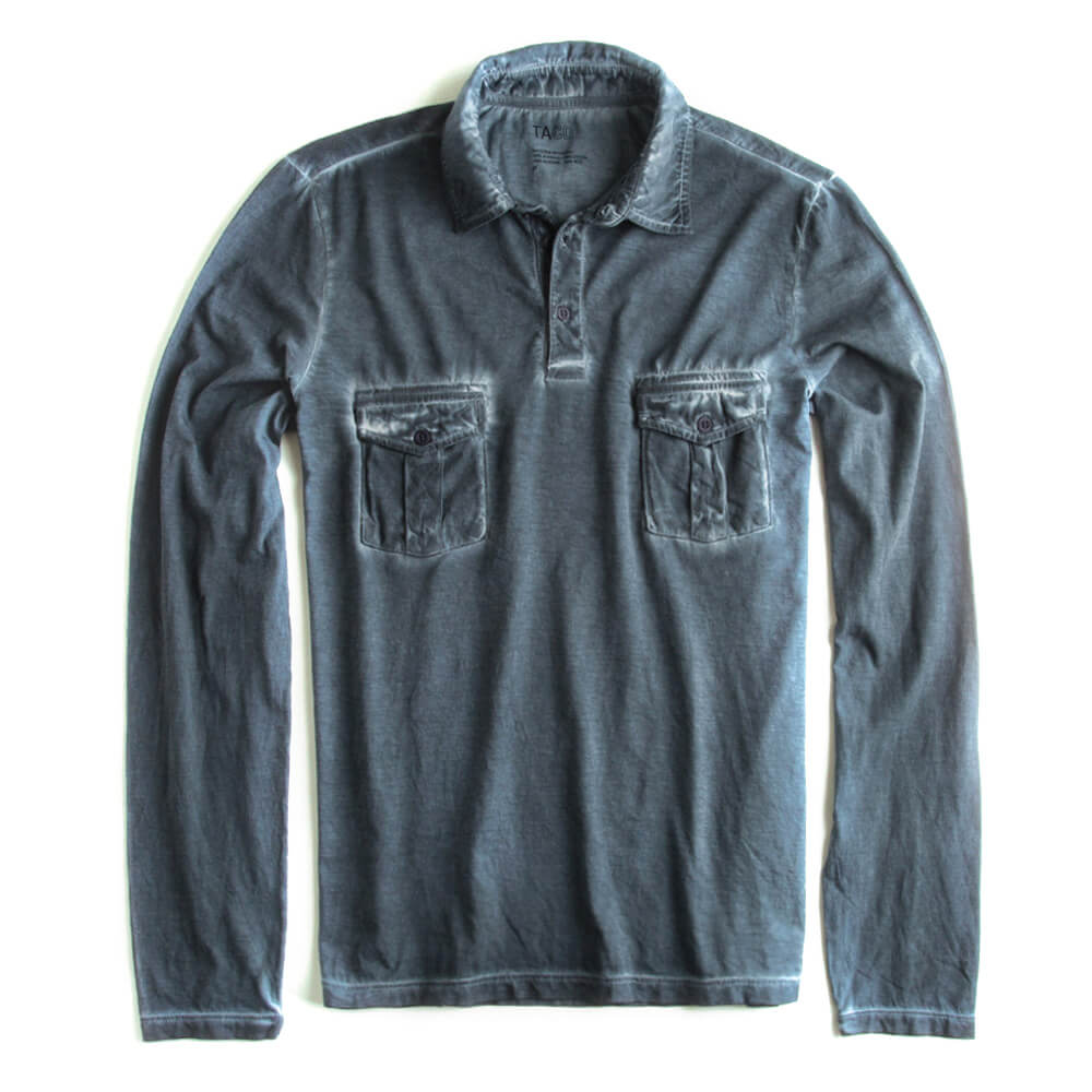 Camisa-Polo-Manga-Longa-Azul-Marinho