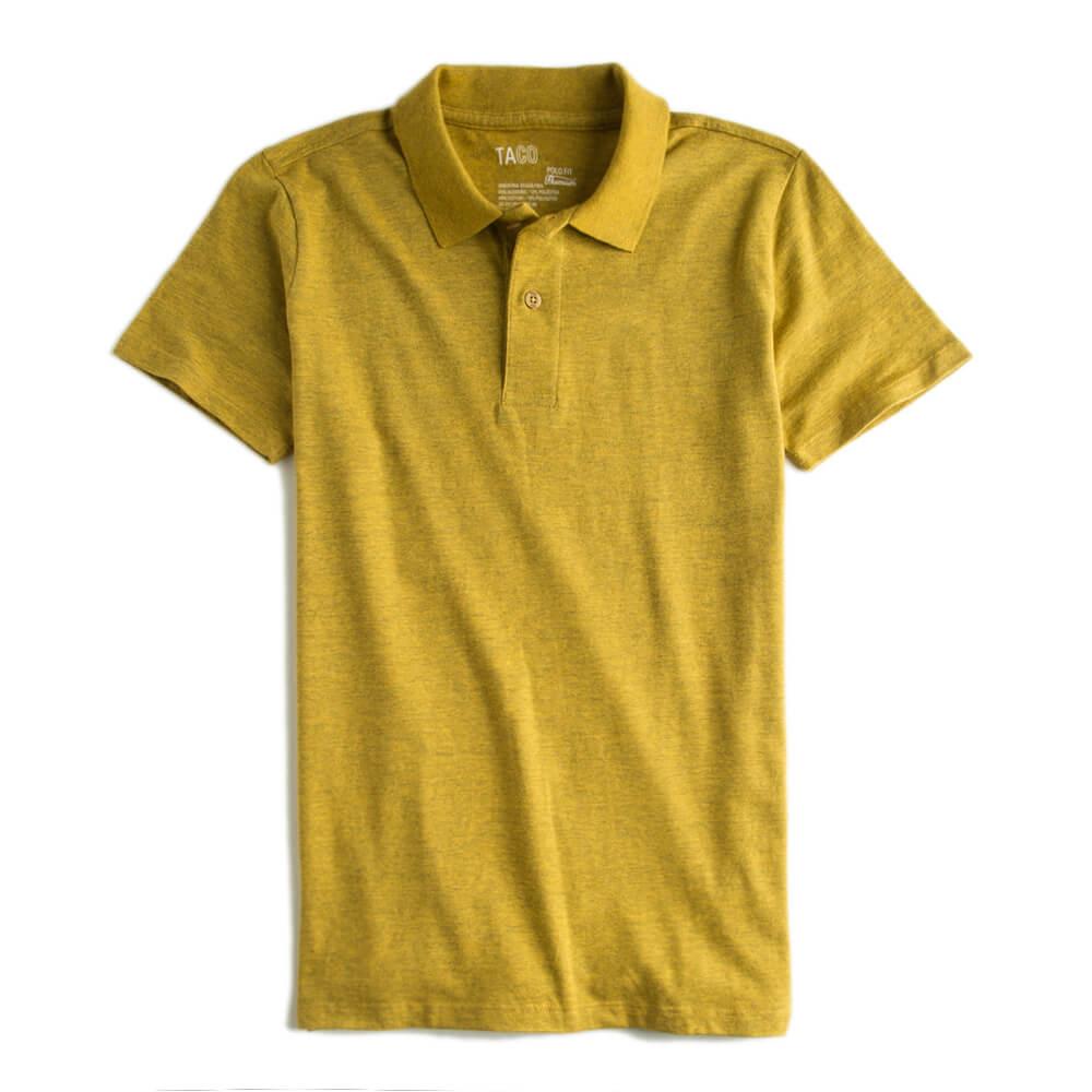 Camisa-Polo-Fit-Premium-Amarelo-Escuro