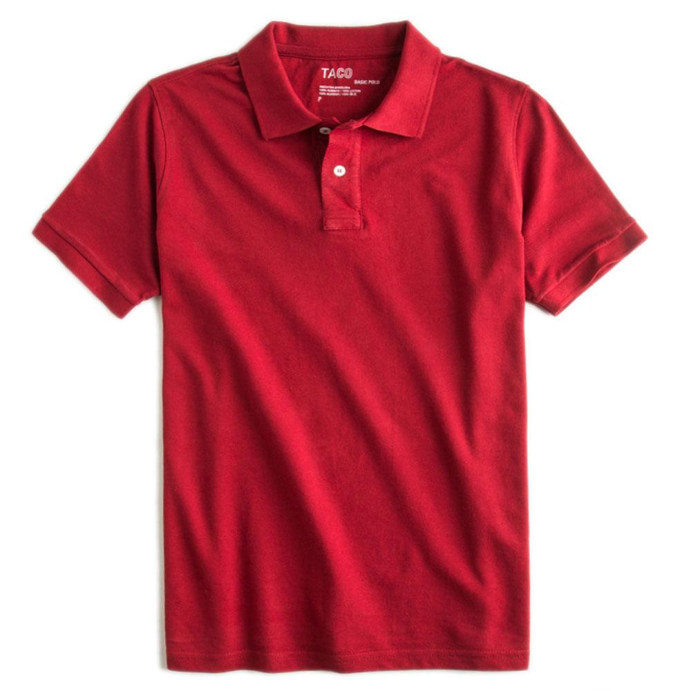 Camisa-Polo-Basica-Vermelho-Escuro