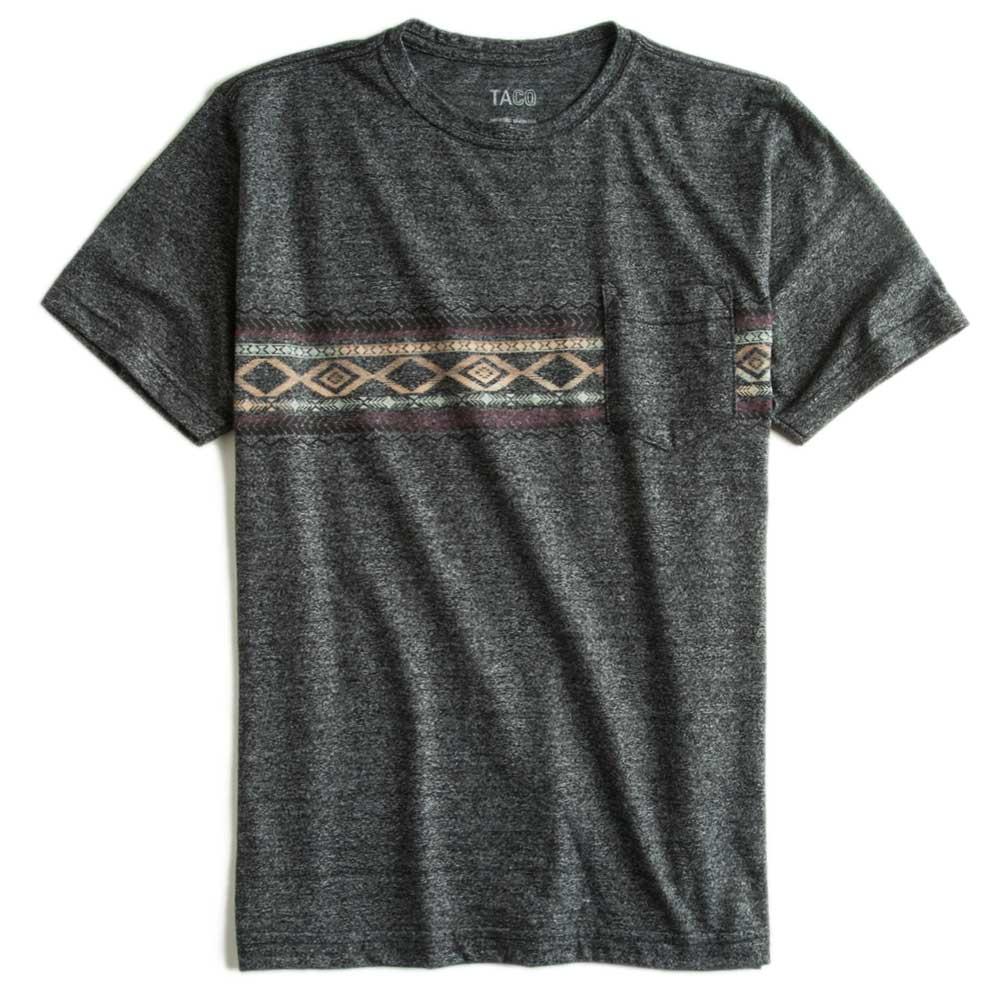 -T-shirt-Com-Bolso-Estampada-Preta