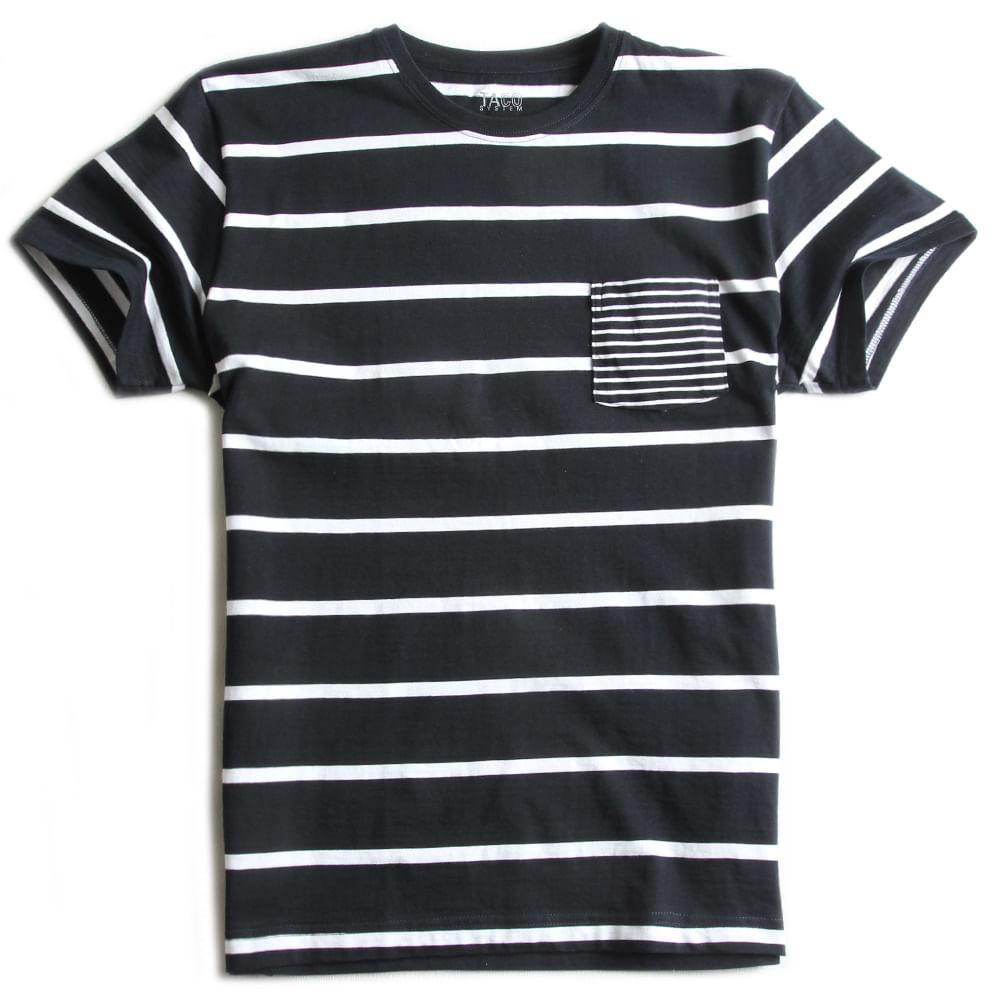 T-shirt-Com-Bolso-Listrada-Marinho---Branco