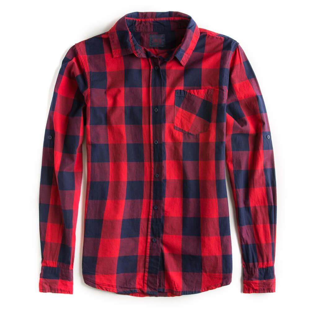 Camisa-De-Tecido-Xadrez-Vermelha-Feminina