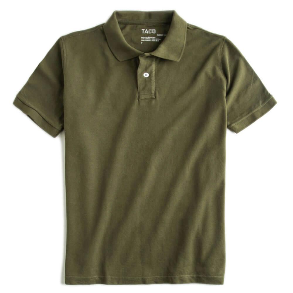 Camisa-Polo-Basica-Verde-Musgo