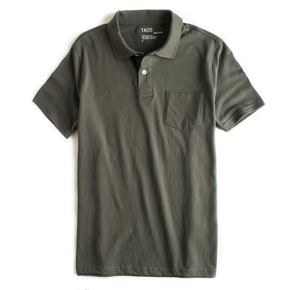 Camisa-Polo-Basica-Com-Bolso-Verde-Musgo