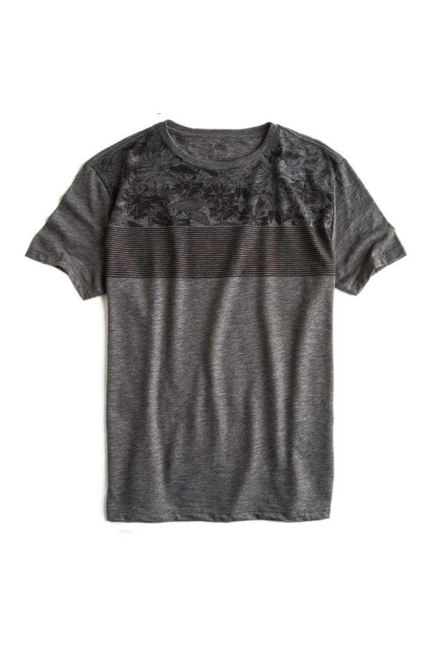 T-shirt-Flame-Estampada-Grafite