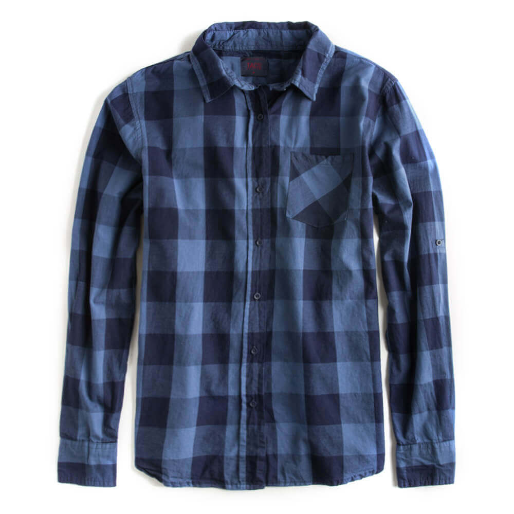 Camisa-De-Tecido-Xadrez-Azul-Jeans-Feminina