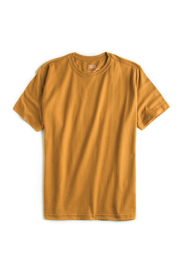 T-shirt-Basic-Fit-Mostarda