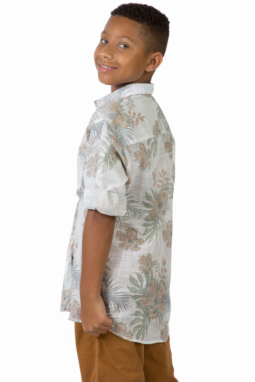 Camisa Estampada Infantil Masculuno Branco - Taco 43873d5dd23