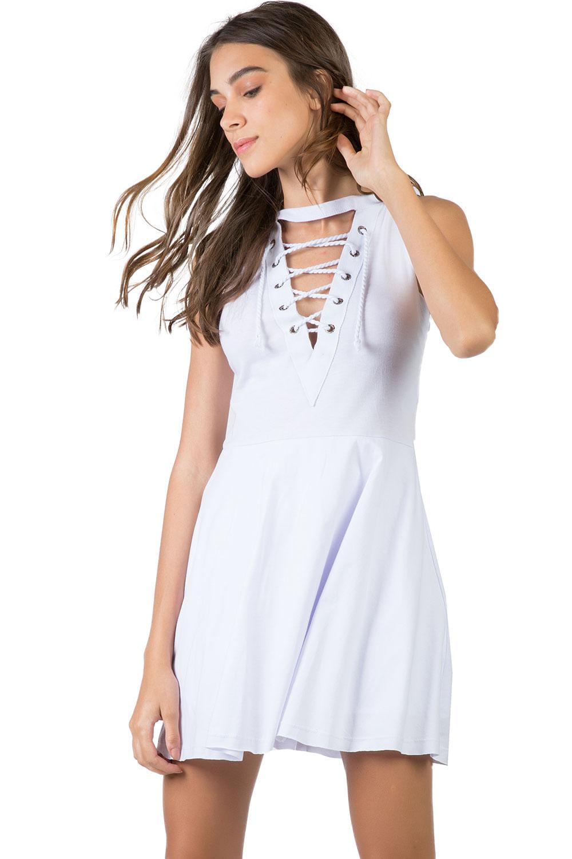 09f84f57a Vestido Curto Branco - Taco