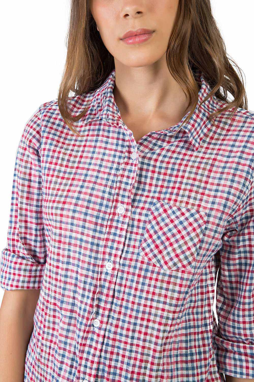 dded5705a6746 Camisa De Tecido Xadrez   Branco   Vermelho - Taco
