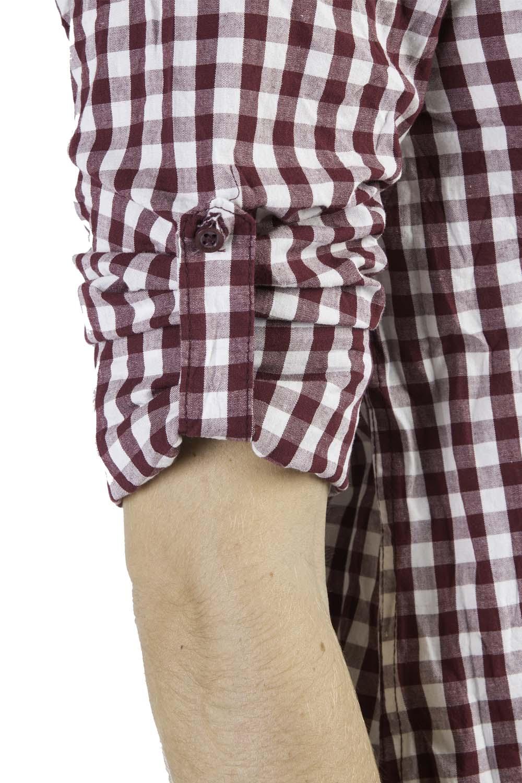 261bacabcb Camisa De Tecido Xadrez Vinho - Taco