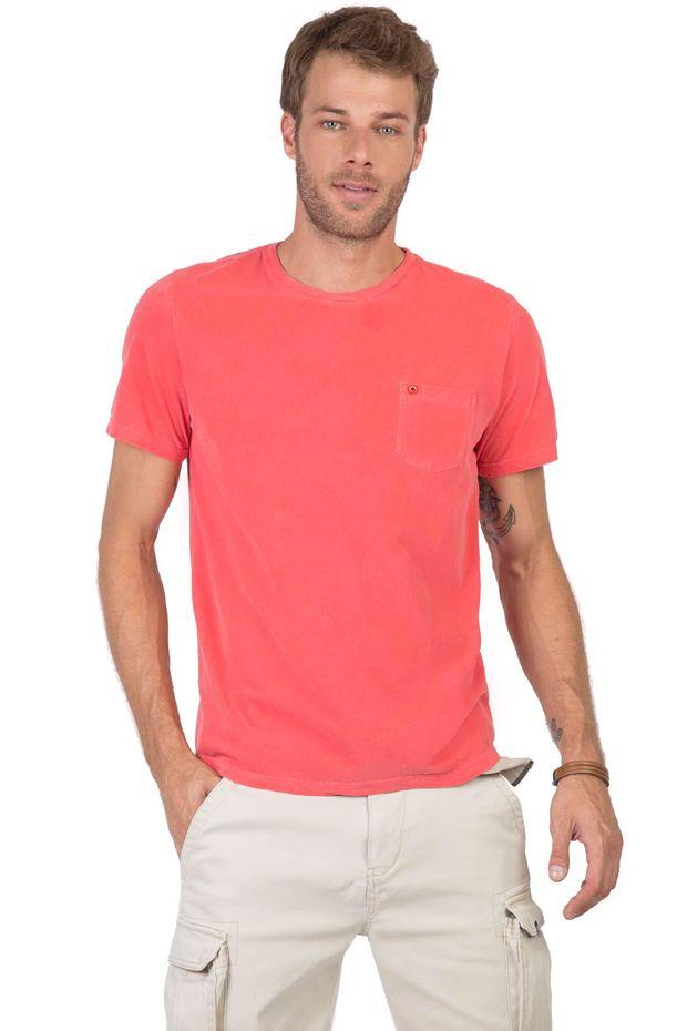 T-Shirt-Com-Bolso-Lisa-Vermelho