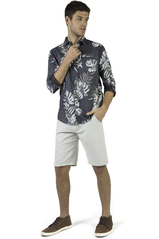 87324b2559 Camisa Estampada Azul Marinho - Taco