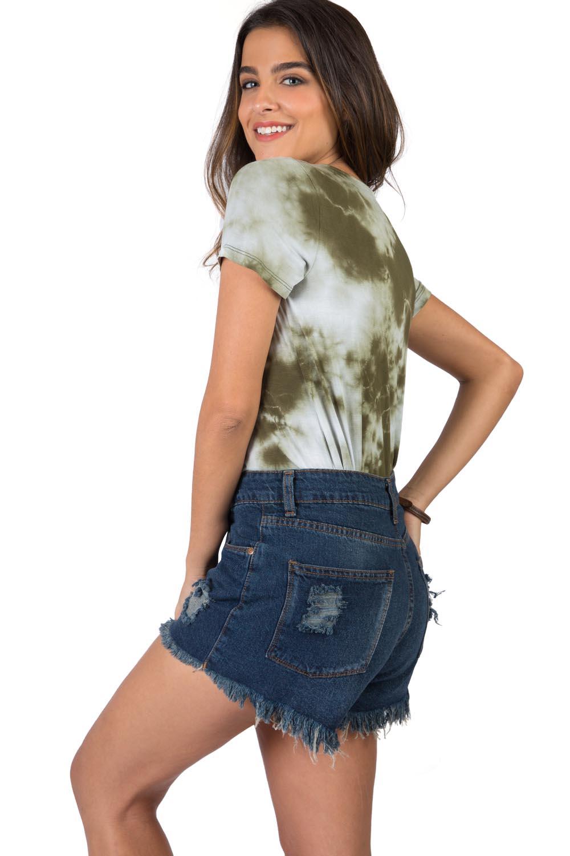 7ba98a28a1 Short Jeans Stone - Taco
