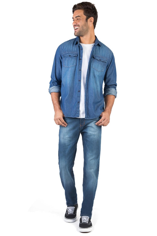 1db4d17046 Camisa Jeans Azul Jeans - Taco