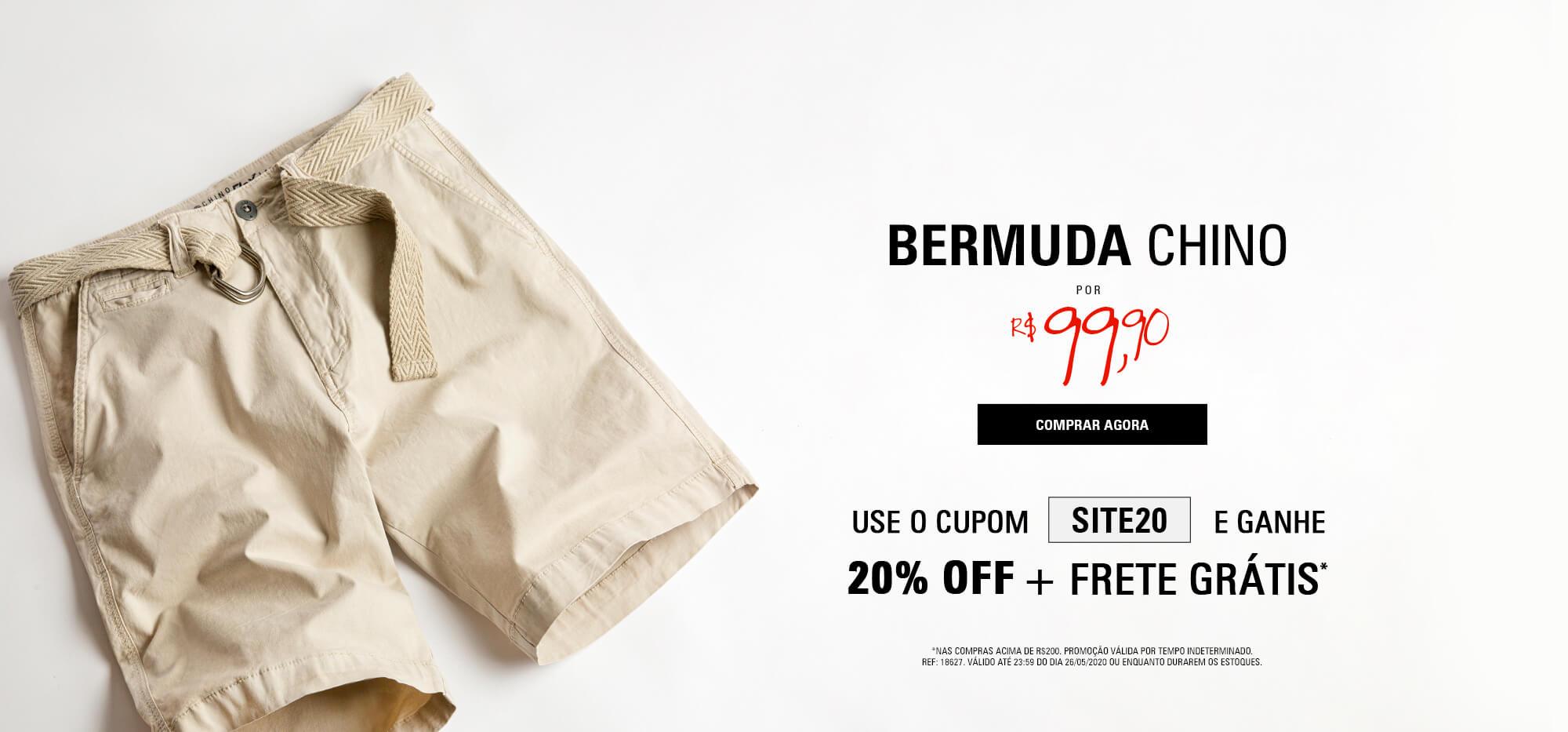 BERMUDA CHINO - ESCURO