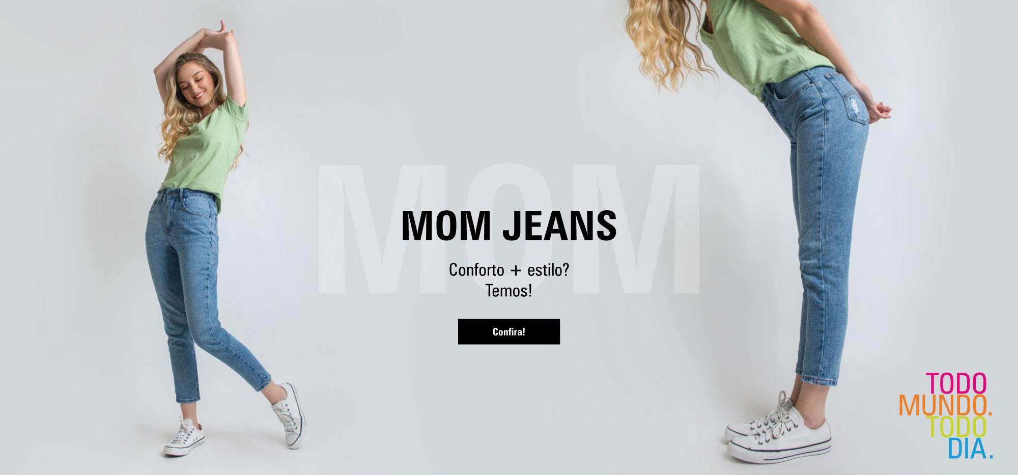 MOM JEANS - ESCURO