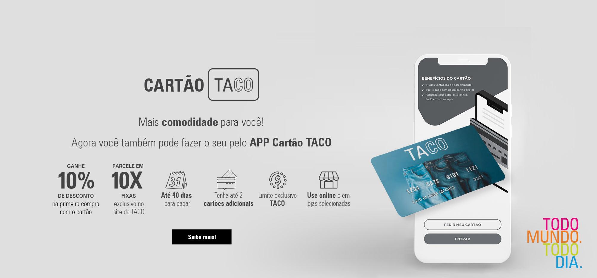 CARTAO TACO - ESCURO